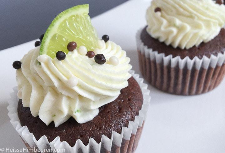 Schoko Limetten Cupcakes