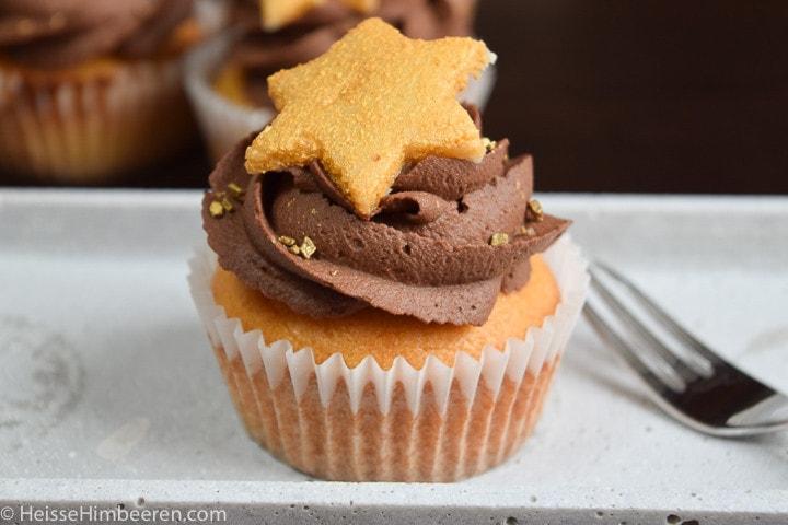 Marzipan Schoko Cupcakes