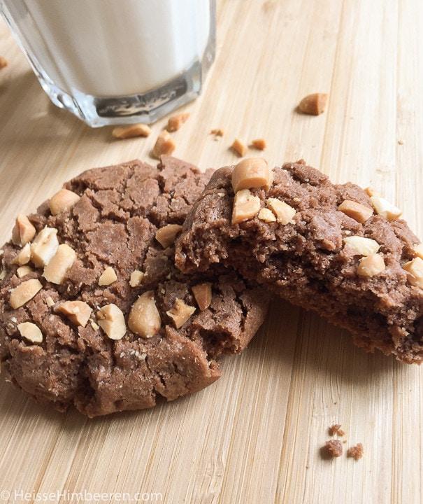 Schoko-Erdnussbutter-Cookies