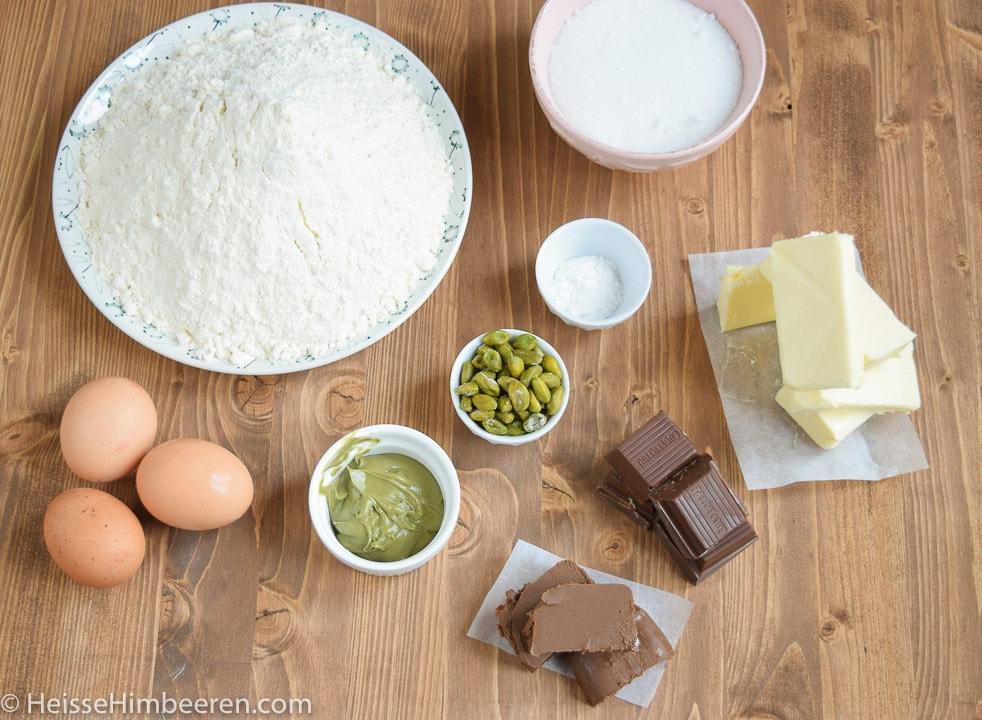 Die Zutaten für das Plätzchen Rezept