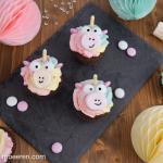 Regenbogen Einhorn Cupcakes