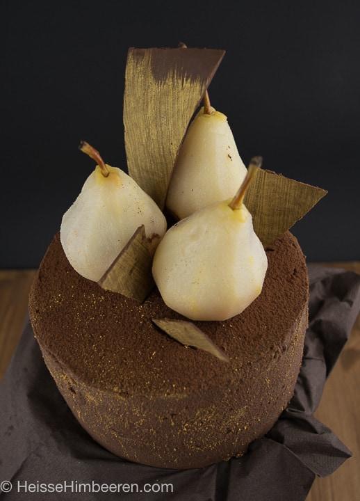 Weißwein-Birnen-Schoko-Torte-7