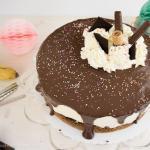 Cremige Bananensplit Torte