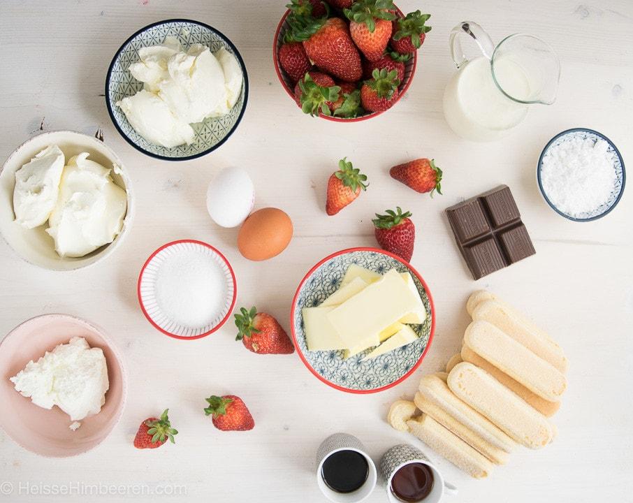 Strawberry Cheesecake Zutaten