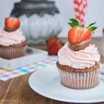 Sommerliche Erdbeer Nougat Cupcakes
