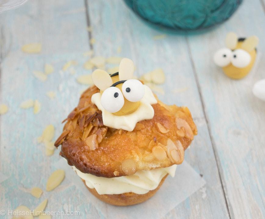Mega süße Bienenstich Cupcakes