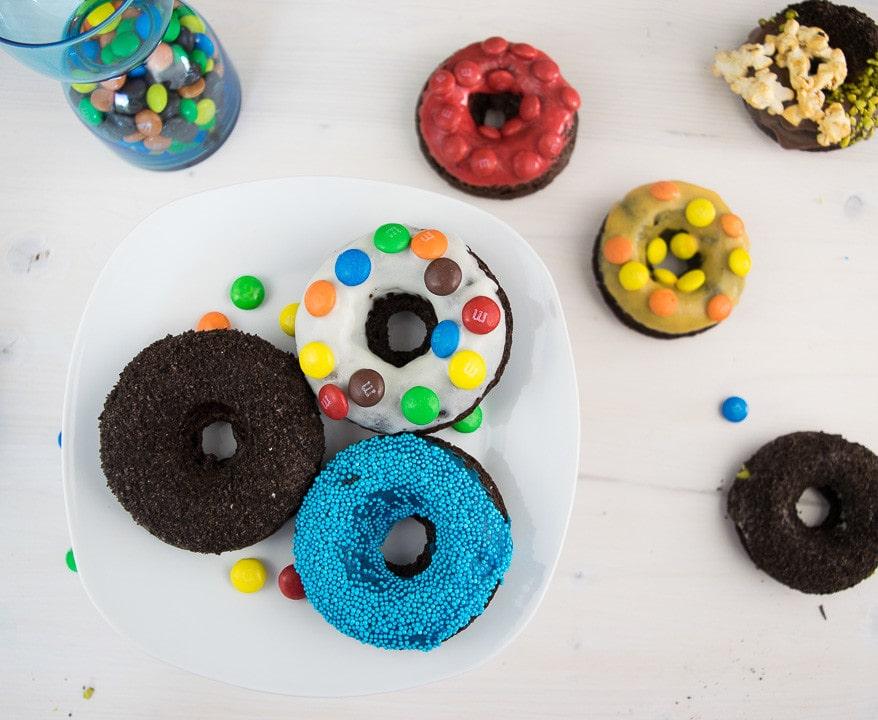Die verrückten Schokoladen Donuts