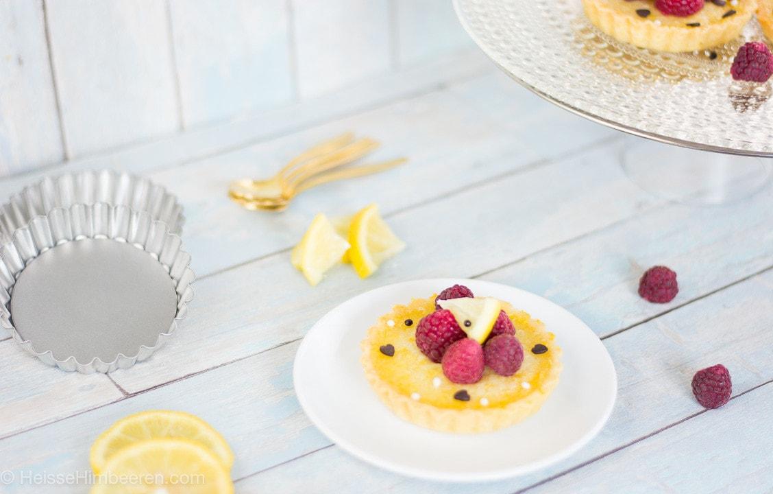 Zitronen Himbeer Tarts-7