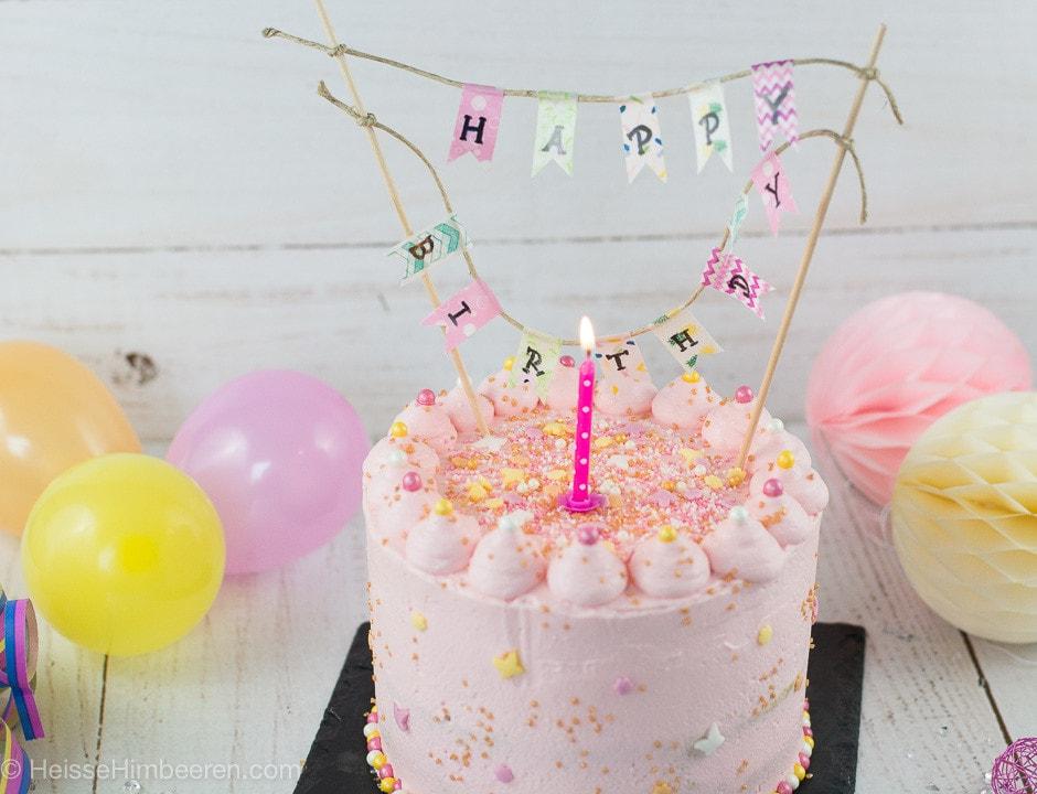 Meine Geburtstagstorte Heisse Himbeeren