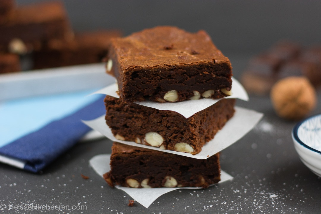 Verboten gute Nutella Nuss Brownies