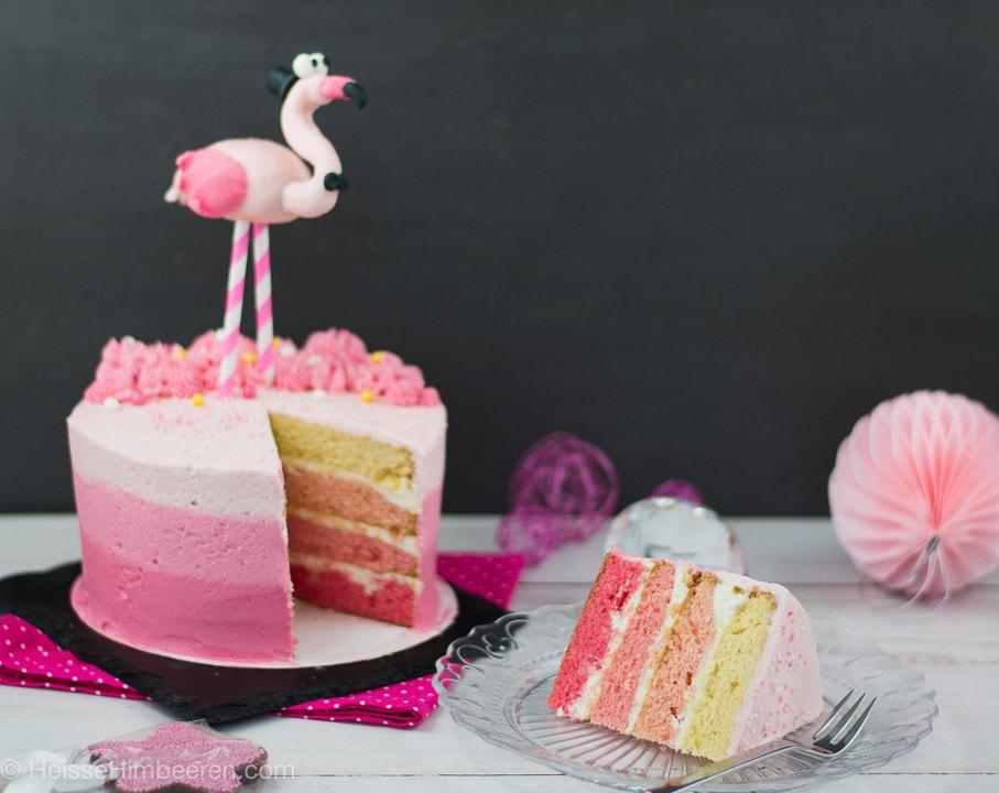 Ombre Flamingo Törtchen