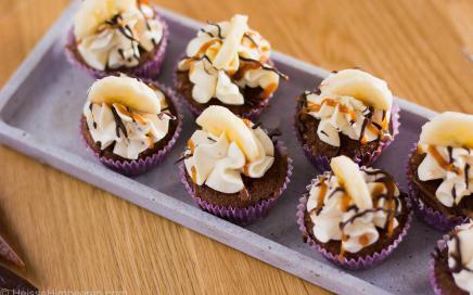 bananen schoko cupcakes
