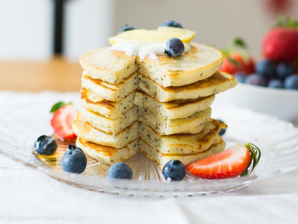 Zitronen Mohn Pancakes