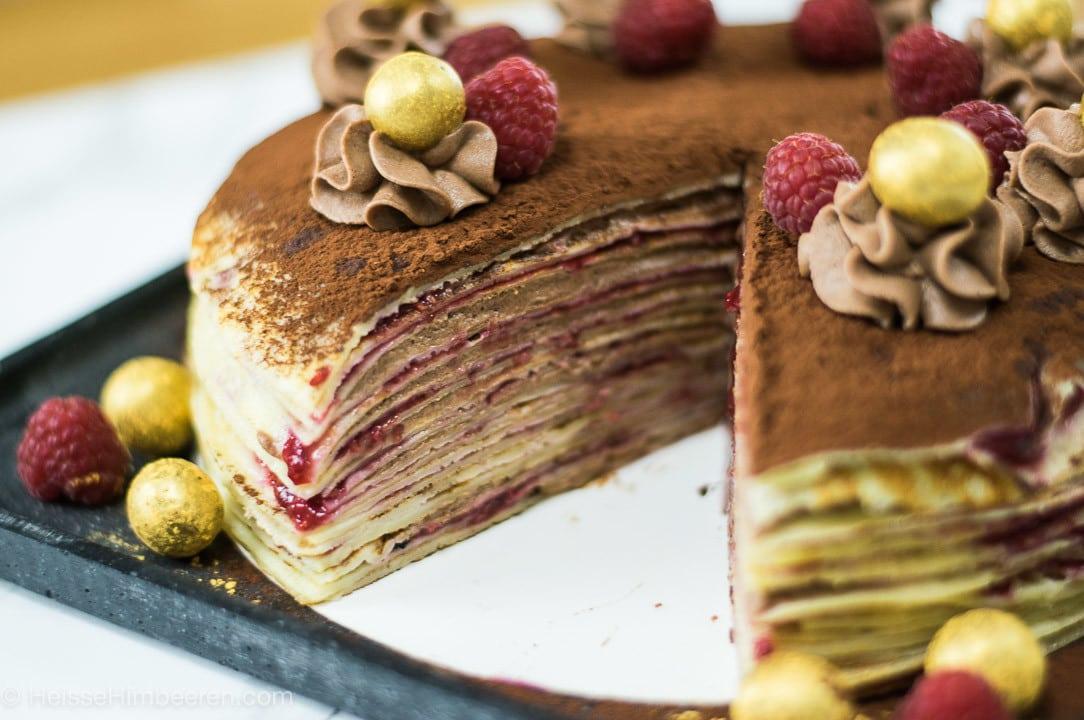 Herzhafter crepe kuchen