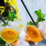 Red Comet – der perfekte Silvester Cocktail mit Blutorange, Gin und Prosecco