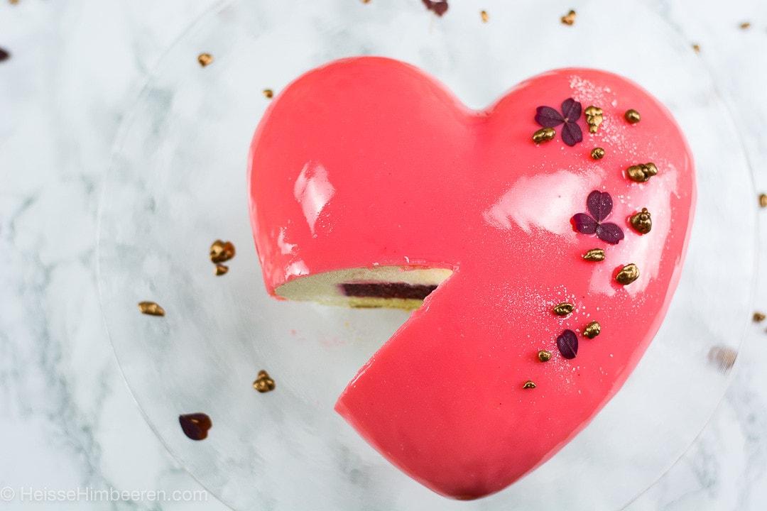 Valentinstag Torte Mein Herzkuchen Heisse Himbeeren