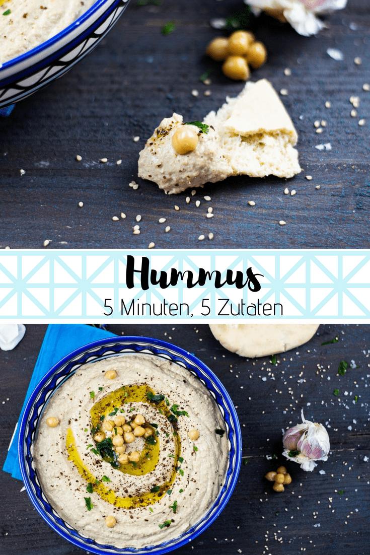 Cremiger Hummus aus Kichererbsen und Tahini, mit gebratenem Knoblauch und Kreuzkümmel. Schmeckt aus Pur unglaublich lecker wie aus Israel!