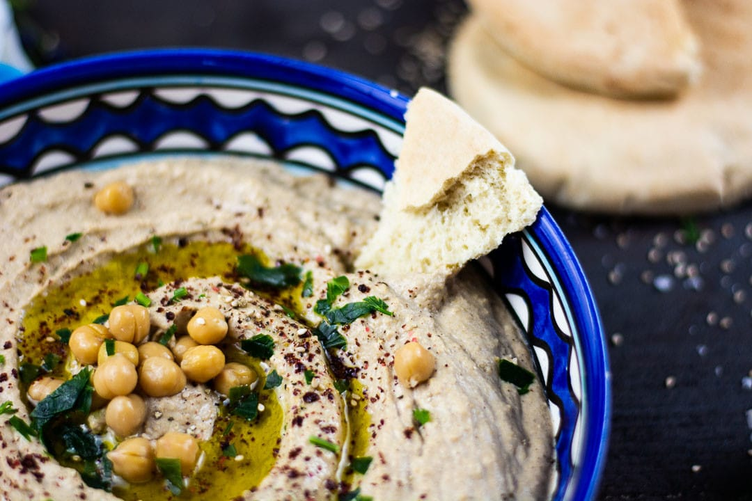 Hummus Kichererbsenpaste aus Nahosten