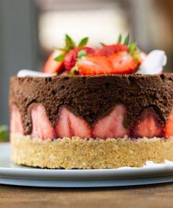 erdbeer schoko kuchen ohne backen