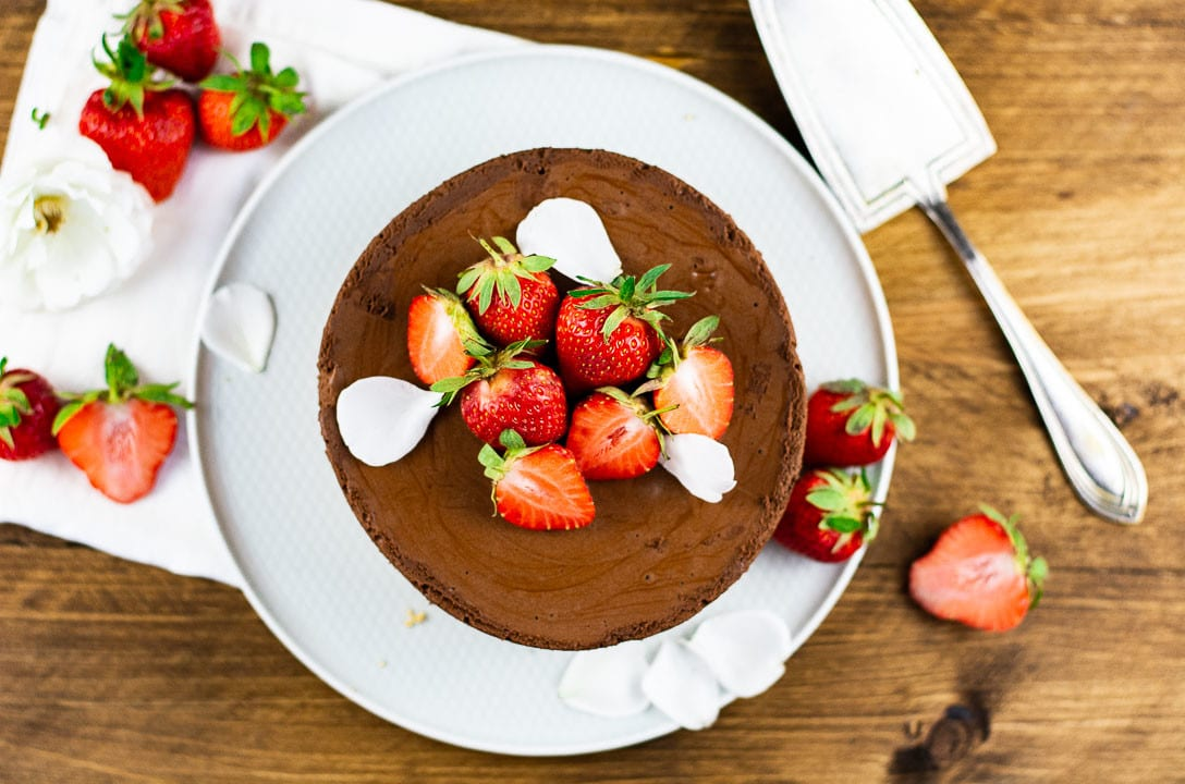 Erdbeertorte mit Schokolademousse