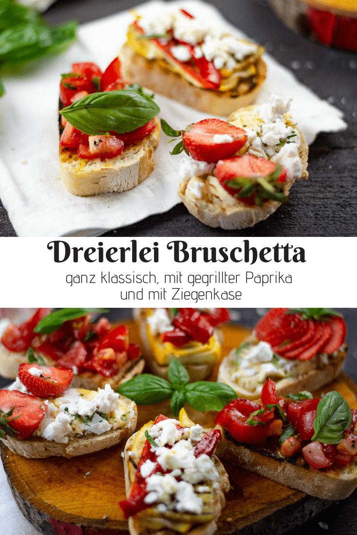 Bruschetta gehören zu den Klassikern der italienischen Küche. Es ist die perfekte Vorspeise, ideal zu einem Glas Wein und auch einfach so nur für sich ein leckeres Gericht. Ich zeige dir drei Möglichkeiten, leckere Bruschetta zu belegen. Von ganz klassisch bis ungewöhnlich!