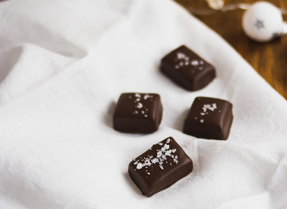 Schokoladen Karamell Pralinen