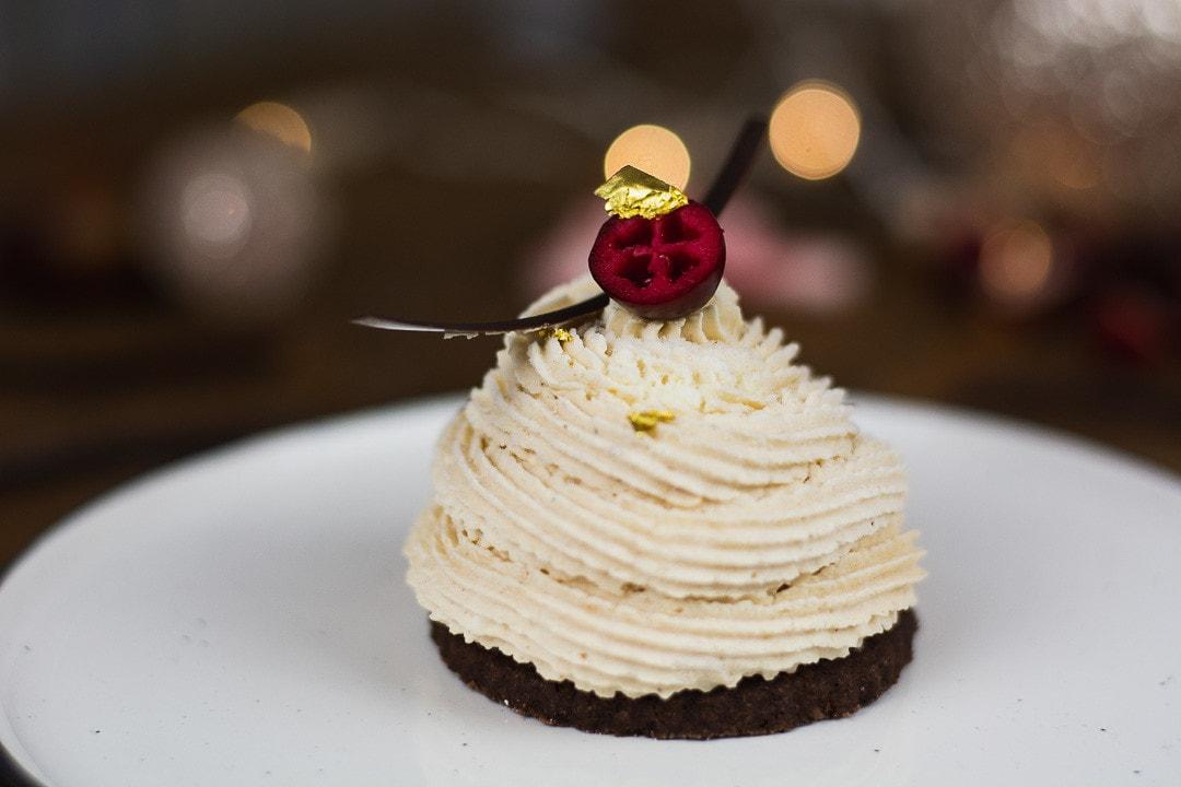 Weihnachtsmenü: Maronen Mousse Törtchen