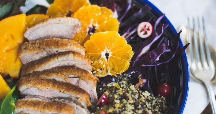 Quinoa Salat mit Ente