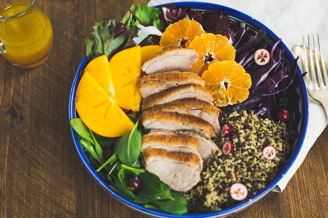 Quinoa Salat Bowl mit Ente