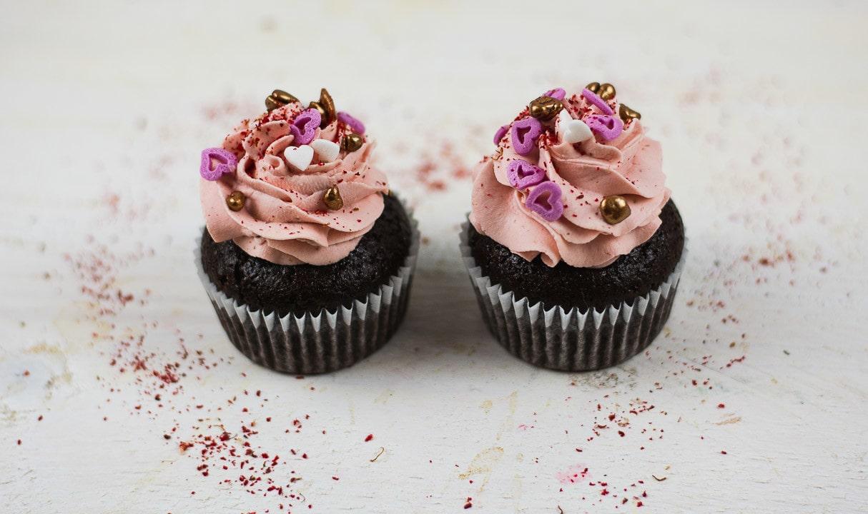 Valentinstagscupcakes für zwei