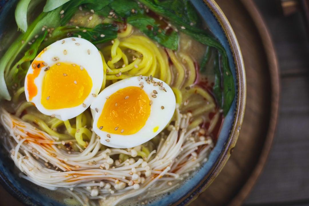Ramen Rezept Close Up mit Ei