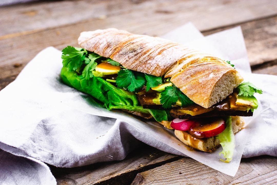 Veggie Banh Mi Sandwich