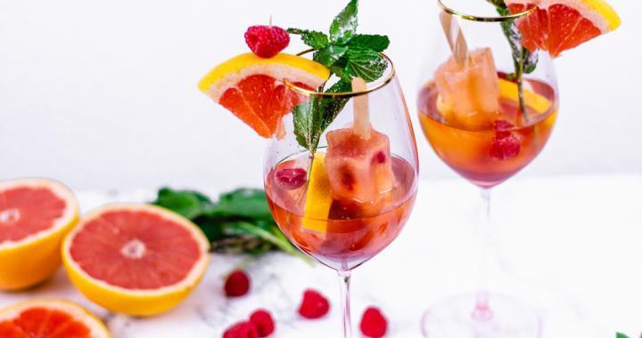 Himbeer Grapefruit Spritz Cocktail