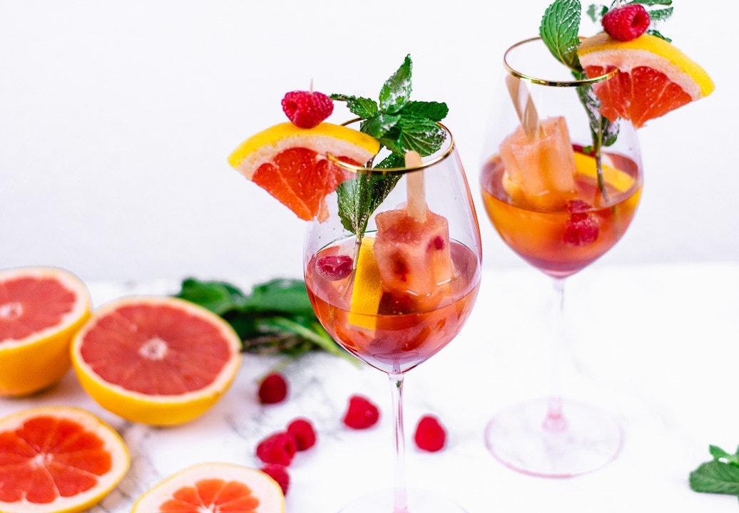 Himbeer Grapefruit Spritz