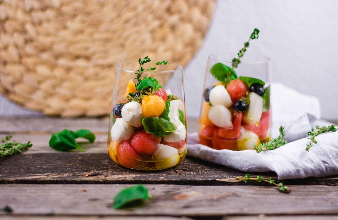 Melonen Caprese Salat