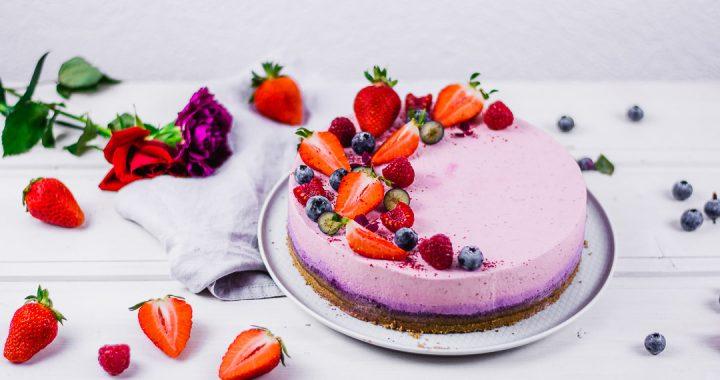 Tripple Berry Torte ohne backen