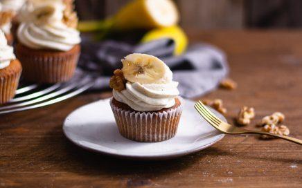 Einfache Bananen Cupcakes