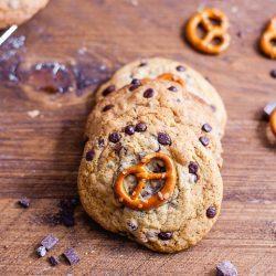 Chocolate Chip Cookies mit Brezeln