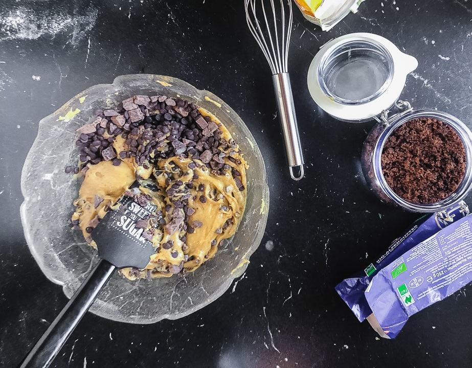 Fertiger Teig für Cookies