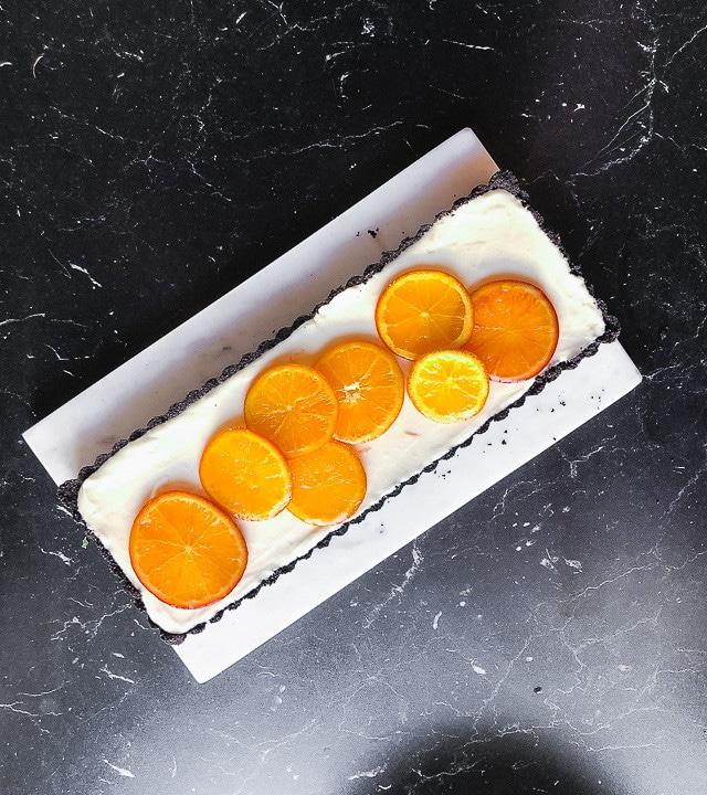 Vollendete Orangentarte