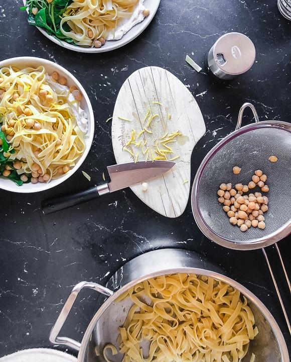 Zutaten für die Pasta mit Ricotta