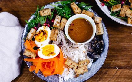Buddah Bowl Rezept mit leckerer Sauce