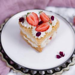 Ein Stück Muttertags Kuchen