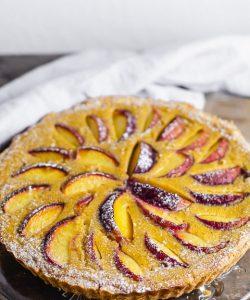 Pfirsichkuchen frisch gebacken