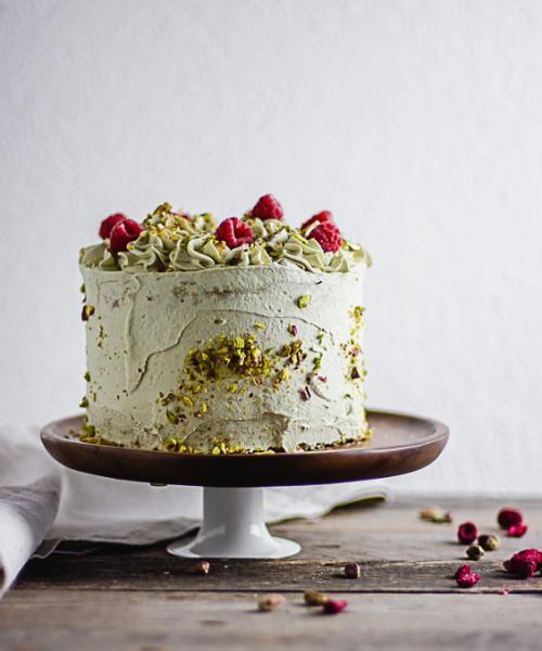 Pistazienkuchen von der Seite