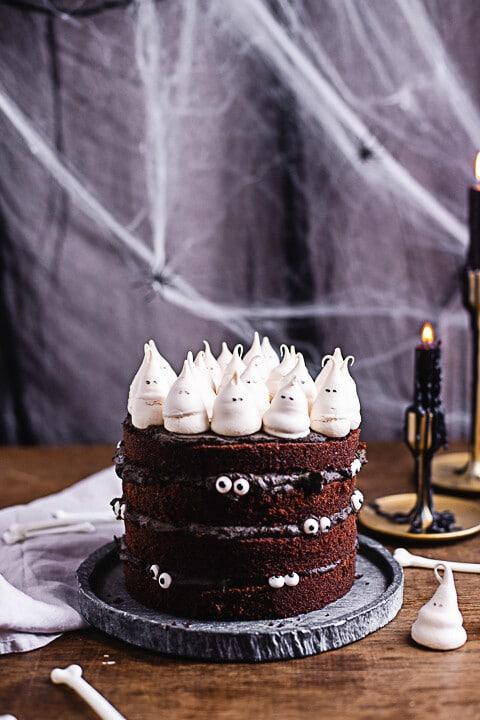 Halloween Torte Die Geister Die Ich Rief Heisse Himbeeren